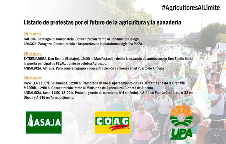 El sector agrícola organiza movilizaciones por toda España-joseantonioarcos.es