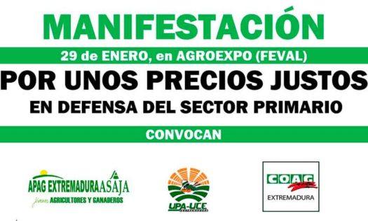 Los agricultores reclaman precios justos en la feria agrícola de Don Benito. /joseantonioarcos.es