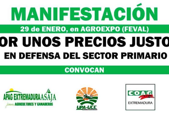 Los agricultores reclamarán 'precios justos' en la feria de Don Benito