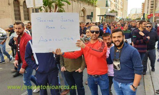 Movilizaciones de agricultores el 19 de noviembre en Almería. /joseantonioarcos.es