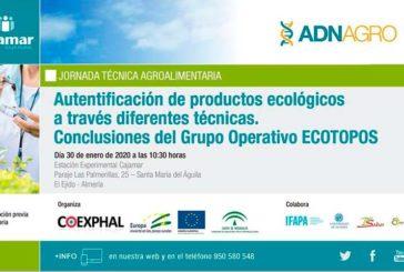 Día 30 de enero. Jornada 'Autentificación de productos ecológicos'