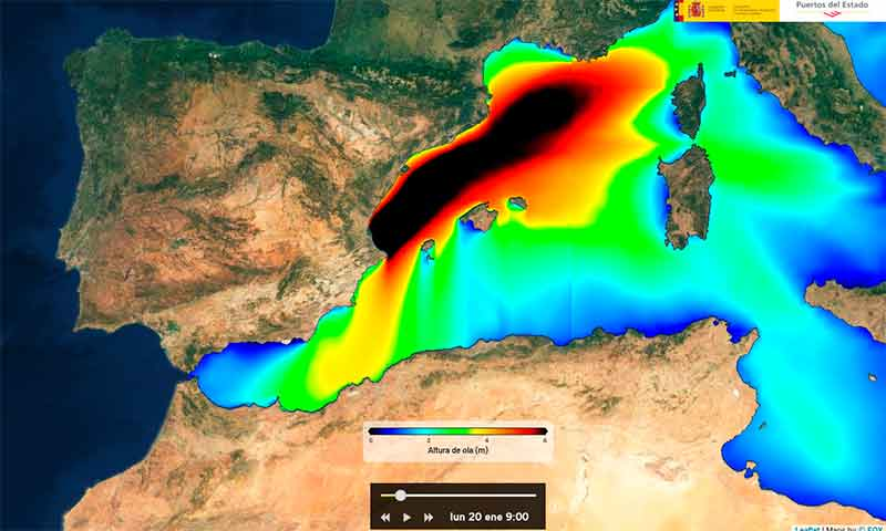 Gloria a su paso por el Mediterráneo. /joseantonioarcos.es