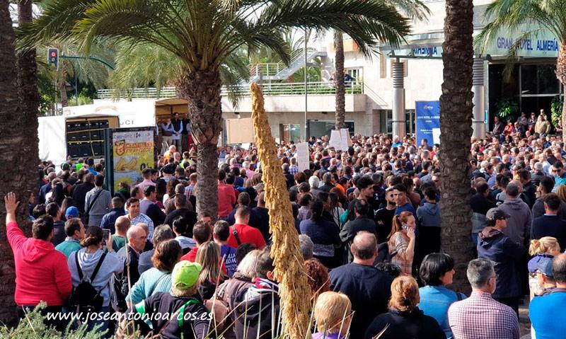 Un momento de la manifestación del pasado 19 de noviembre en la ciudad de Almería. /joseantonioarcos.es