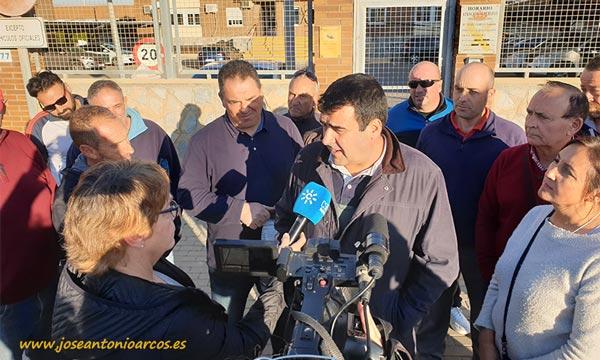 Andrés Góngora tras salir de la Guardia Civil. /joseantonioarcos.es