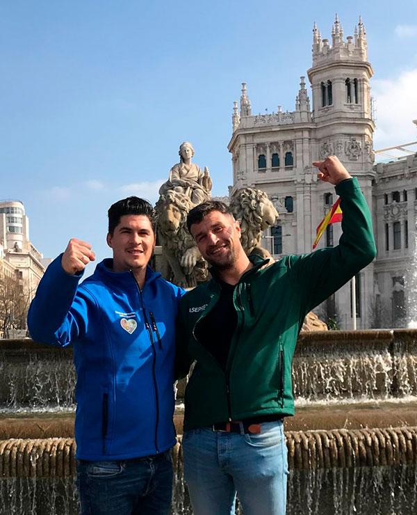 El almeriense Bernabé y el extremeño Chamorro este domingo pasado en Madrid. /joseantonioarcos.es