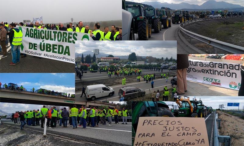Protestas de agricultores en toda España. /joseantonioarcos.es