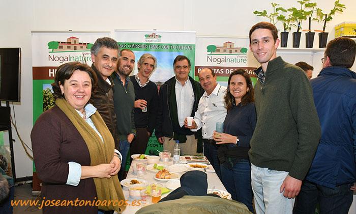 La cooperativa portuguesa Agrotejo en el expositor de Agronature en la feria de Don Benito, Agroexpo 2020.