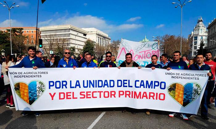 Unión de Agricultores Independientes este pasado domingo en la Castellana de Madrid. /joseantonioarcos.es