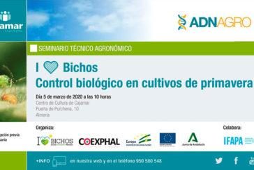 Día 5 de marzo. Control biológico en cultivos de primavera