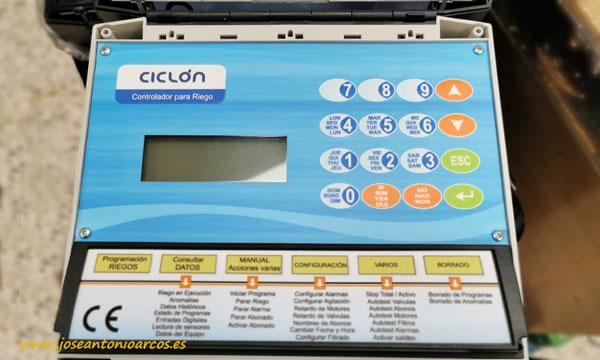 Ciclón. Máquina de riego de Maher electrónica. /joseantonioarcos.es