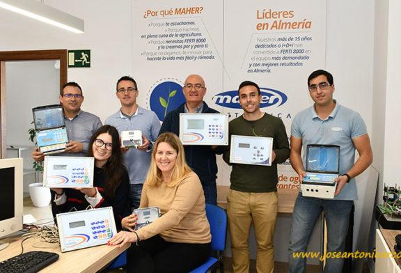 Una empresa de Adra fabrica máquinas de riego para toda España