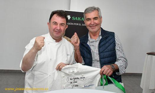 Martín Berasategui con Miguel Vargas, presidente de CASI. /joseantonioarcos.es