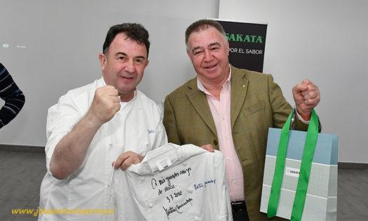 Martín Berasategui con José Martínez Portero. /joseantonioarcos.es