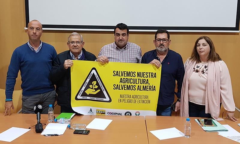 Rueda de prensa en la sede de Coexphal en Almería. /joseantonioarcos.es