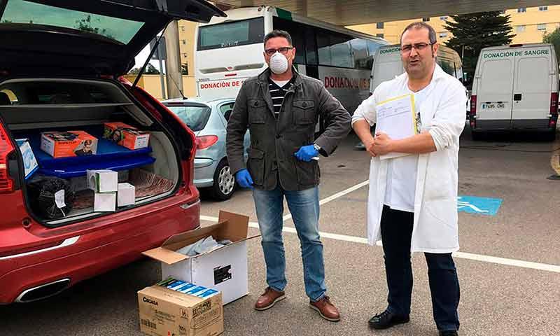 BIO SOL PORTOCARRERO S.A.T. dona material sanitario al Hospital Universitario de Torrecárdenas. /joseantonioarcos.es