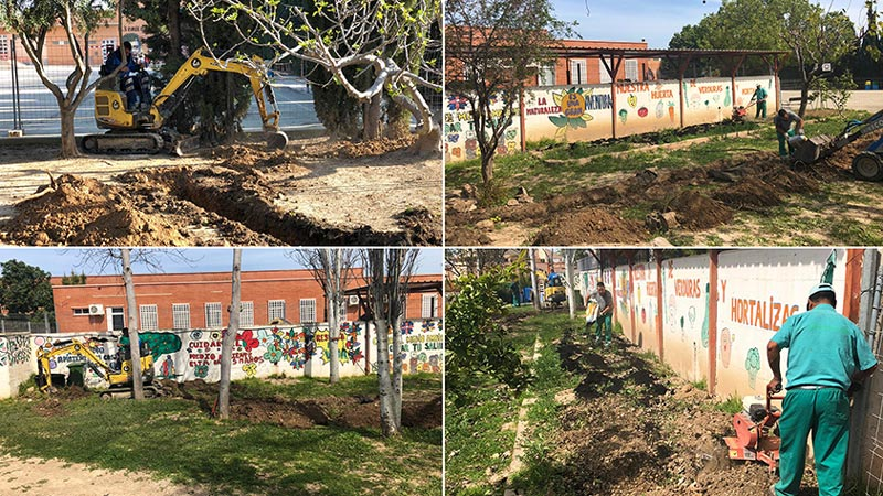 Seipasa y Agroquímicos Torre-Pacheco recuperan huertos escolares
