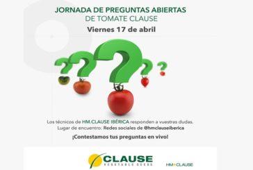 Día 17 de abril. Jornada de preguntas abiertas de tomate de Clause