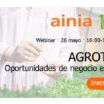 Día 26 de mayo. Webinar 'AGROTECNOLOGÍA: oportunidades de negocio en EEUU'
