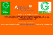 Del 15 al 18 de junio. Curso webinar Auditor Interno de GLOBALG.A.P.