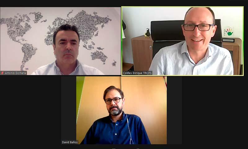 Antonio Domene, gerente de la cooperativa CASI; y Enrique Colilles, director general de TROPS. /joseantonioarcos.es